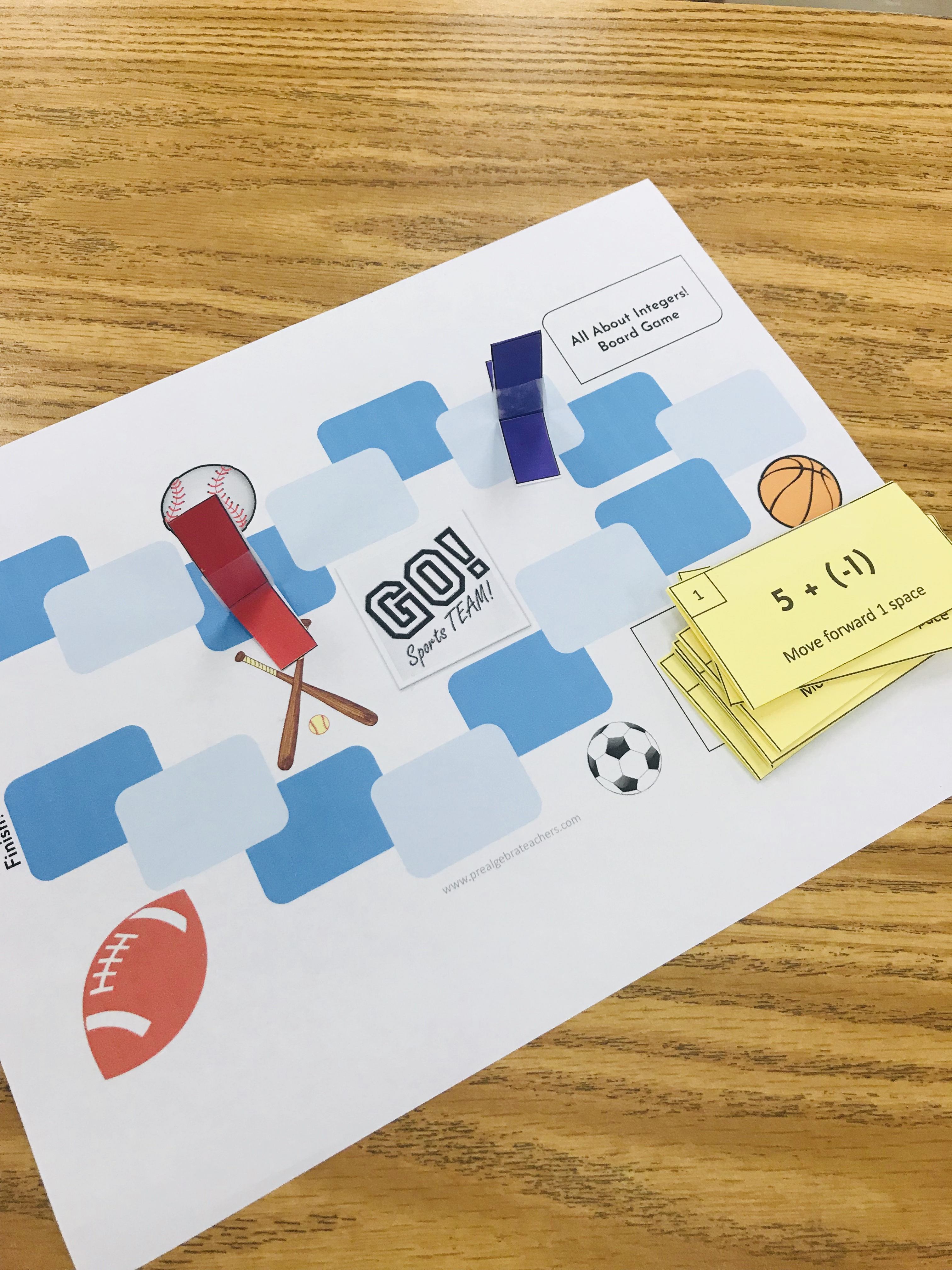 Board Games In The Middle School Math Classroom